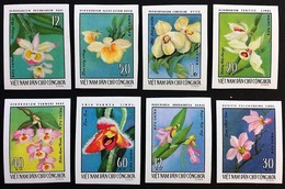 # Vietnam 1976**Mi.857-64 Imperf., Flowers , MNH [7II;15] - Pflanzen Und Botanik