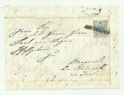 FRANCOBOLLO 9 KREUZER 1855 SU FRONTESPIZIO - 1850-1918 Impero