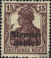 Memelgebiet 3a With Hinge 1920 Germania-Print - Memelgebiet