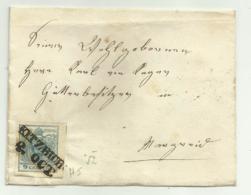 FRANCOBOLLO DA 9   KREUZER KITZBUHEL   1852  SU FRONTESPIZIO - 1850-1918 Impero