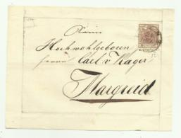 FRANCOBOLLO DA 6  KREUZER LIENZ  1852  SU FRONTESPIZIO - 1850-1918 Impero