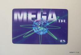 BELGIUM Calling Card - MEGA Tel - LycaTel - Year 2007 - Pre Paid Card (€5) Used. - Belgium
