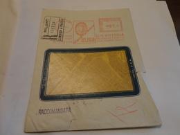 AFFRANCATURA PUBBLICITARIA ELIOS -O.M. VITTORIA-MILANO STABILIMENTO PADERNO DUGNANO-1953 - Affrancature Meccaniche Rosse (EMA)