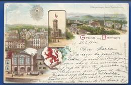 Gruss Aus BARMEN              écrite En 1900 - Germany