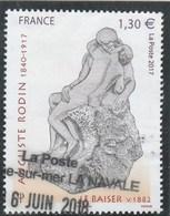 FRANCE 2017 RODIN LE BAISER OBLITERE - YT 5168 - France
