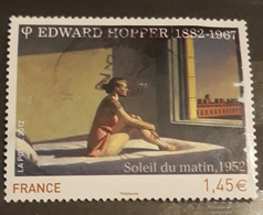 France 2012 , Obliteration , Sileil Du Matin,Edward Hoppet, Painting - Francia