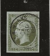 TIMBRE SECOND EMPIRE N°11 OBLITERE  -TB - SIGNE CALVES - COTE :90 € - 1862 Napoleon III