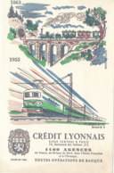 BU 1612-/  BUVARD    CREDIT LYONNAIS   LES CHEMINS DE FER - Bank & Insurance
