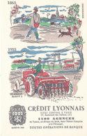 BU 1613-/  BUVARD    CREDIT LYONNAIS   LES  SEMAILLES - Banque & Assurance