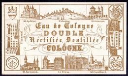 PRINT From J. STERN BERLIN - EAU DE COLOGNE DUBLE  CERTIFIEE  DESTILLEE  COLOGNE - Cc 1910/15 - Labels