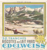 BU 1618 -/  BUVARD   BISCOTTES  EDELWEISS   ARPAJON - Biscottes