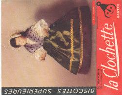 BU 1623-/  BUVARD   BISCOTTES  LA CLOCHETTE NANTES   COGNAC - Biscottes