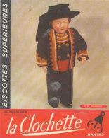 BU 1625-/  BUVARD   BISCOTTES  LA CLOCHETTE NANTES   DOUARNENEZ - Biscottes