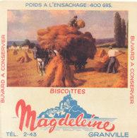 BU 1628 -/  BUVARD   BISCOTTES  MAGDELEINE   GRANVILLE   ( AGRICULTURE) - Biscottes