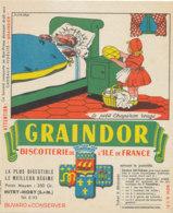 BU 1629 -/  BUVARD   BISCOTTES   GRAINDOR  BISCOTTERIE DE L'ILE DE FRANCE -LE PETIT CHAPERON ROUGE - Biscottes