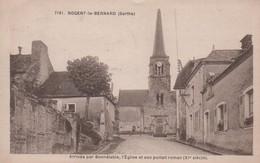 NOGENT-le-BERNARD - Arrivée Par Bonnetable, L'Eglise Et Son Portail Roman - - Frankrijk