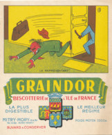 BU 1631 -/  BUVARD   BISCOTTES   GRAINDOR  BISCOTTERIE DE L'ILE DE FRANCE -LE   REPRESENTANT - Biscottes