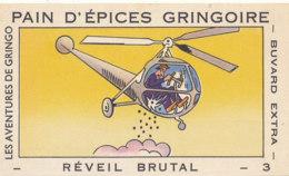 BU 1633 -/  BUVARD   PAIN D'EPICES GRINGOIRE     LES AVENTURES DE GRINGO - Biscottes