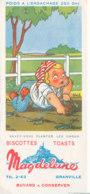 BU 1636 -/  BUVARD    BISCOTTES MAGDELEINE   GRANVILLE   SAVEZ-VOUS PLANTER LES CHOUX - Biscottes