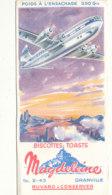 BU 1638 -/  BUVARD    BISCOTTES MAGDELEINE   GRANVILLE  (AVIATION  ) - Biscottes