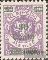 Memelgebiet 225 Con Fold 1923 Complementare Issue - Memelgebiet
