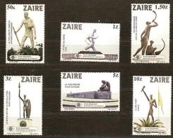 Zaire 1983 OBCn° 1194-1199 *** MNH  Cote 5,00 Euro Monumenten Monuments Kinshasa - 1980-89: Neufs