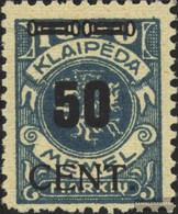 Memelgebiet 191 Con Fold 1923 Complementare Issue - Klaïpeda