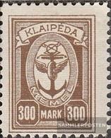 Memelgebiet 156 Con Fold 1923 Port Memel - Memelgebiet