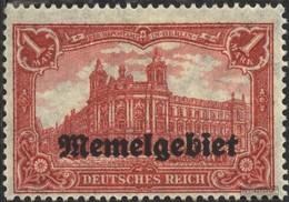 Memelgebiet 9 Con Fold 1920 Germania-Stampa - Memelgebiet