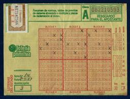 Boleto Lotería Primitiva (año 1987 España) - Billetes De Lotería