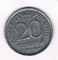 20 FENIGOW  1918 F POLEN /1241/ - Polen