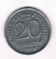 20 FENIGOW  1918 F POLEN /1241/ - Pologne