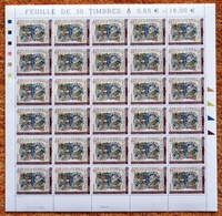 FRANCE 2007 FEUILLE COMPETE BIBLIOTHEQUE HUMANISTE SELESTAT YT 4013** ; 30 TIMBRES - Feuilles Complètes