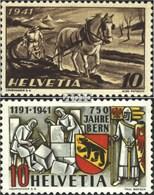 Schweiz 386,398 (kompl.Ausg.) Gestempelt 1941 Anbauwerk, Bern - Switzerland