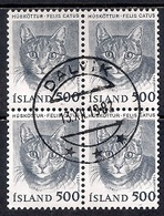Iceland 1982 - Domestic Animals  Block Of 4 - 1944-... Republik