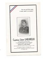 Capitaine Léon Lheureux-mort Pour La France-sainghin-en-weppes-le-17-12-1944-rare - Documents