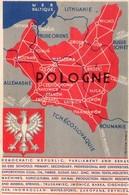 POLAND POLOGNE GEOGRAPHICAL MAP OF POLAND YEAR 1932 VERY RARE POSTCARD - Poland