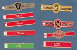 WEBER  Bagues De Cigare - Cigar Bands
