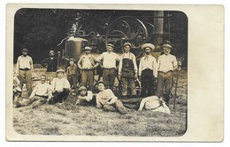CARTE PHOTO-Machine Agricole à Vapeur ... Animé - Agriculture