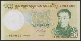 Bhutan 20 Ngultrum 2013 P30b UNC - Bhutan