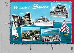 CARTOLINA VG ITALIA - Un Ricordo Di SAVONA - Vedutine Multivue - 10 X 15 - ANN. 1961 - Savona