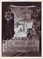 Manifesto Film Le Nevi Del Kilimangiaro,  Foto  In Cinema Bologna  1952 - Posters