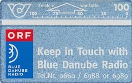 ÖSTERREICH Schalter Telefonkarte - ANK 46 - ORF Blue Danube Radio- 211 D - Auflage 100 000 - Siehe Scan -10817 - Oesterreich