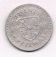 20 PESEWAS 1967 GHANA /1255/ - Ghana