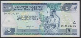 Ethiopia 5 Birr 2017 P47h UNC - Ethiopie
