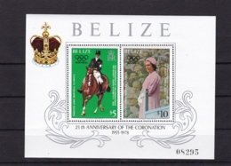 Belize, 1979, 417/18 Block 6, 25. Jahrestag Der Krönung Von Königin Elisabeth II. MNH ** - Belize (1973-...)