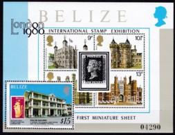 Belize, 1979, 419 Block 7, 25. Jahrestag Der Krönung Von Königin Elisabeth II. MNH ** - Belize (1973-...)