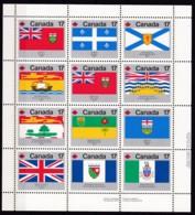 Kanada, 1979, 731/42, Flaggen Der Kanadischen Provinzen Und Territorien. MNH ** - 1952-.... Règne D'Elizabeth II