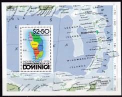 Dominica, 1979, 614 Block 52, Tag Der Unabhängigkeit. MNH ** - Dominica (1978-...)