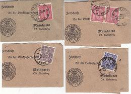 4 Bandes Du Journal Commando DKW Landjäger Corps Pour Mainhardt ,1920/21 - Allemagne